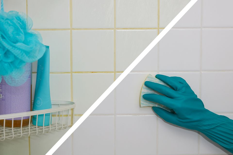 before and after of bathroom tile