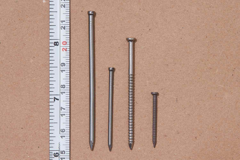 Nail sizes