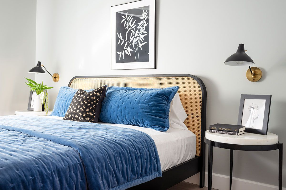 Organized guest bedroom