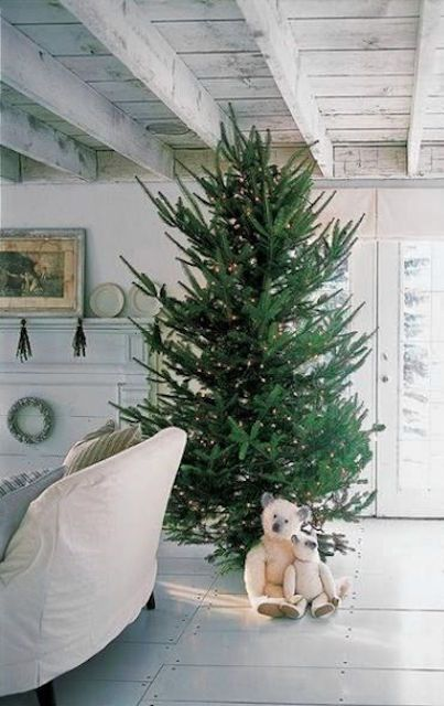 Árbol de Navidad majestuoso con ositos de peluche