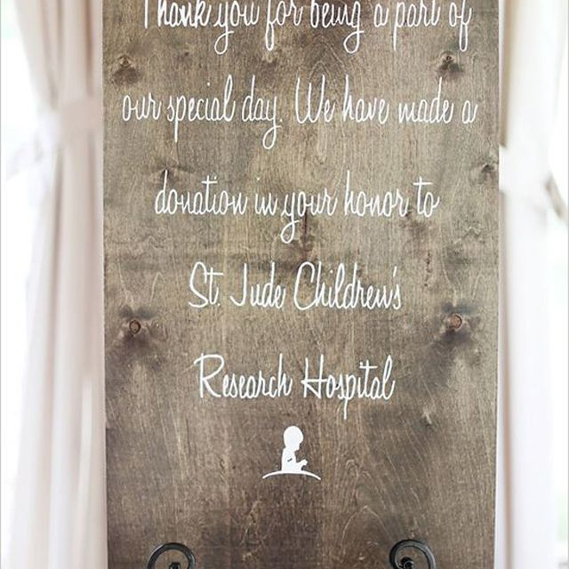 Wedding Favor Charity Donation Board