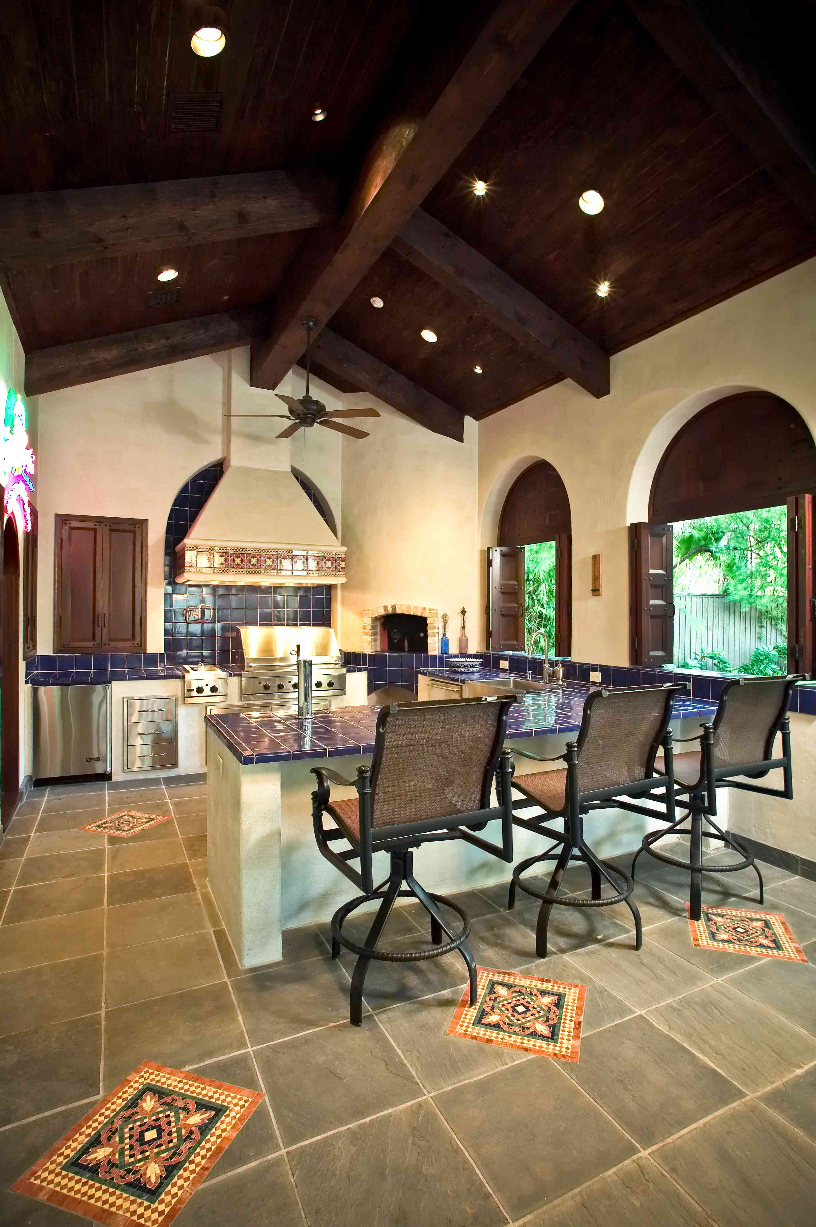 Spanish style kitchen in newly built home