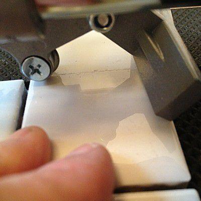 Scoring acermaic tile before cutting
