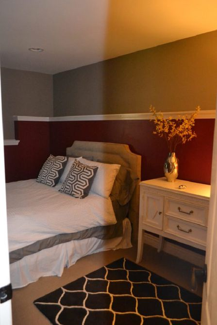 Antes - Dormitorio convertido en una oficina en el hogar