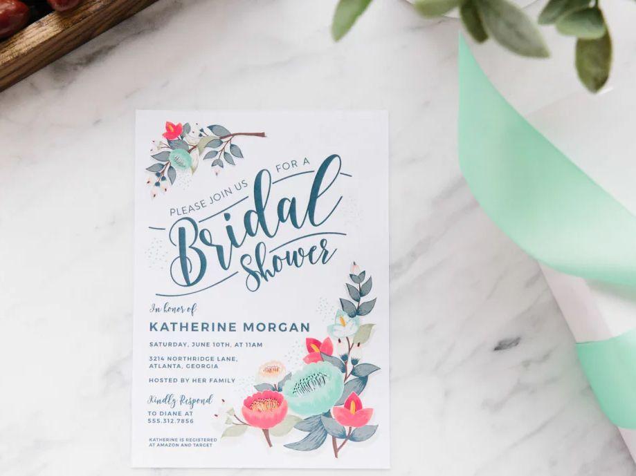 Hens Party Bohemian Watercolor Floral Dreamcatcher DIY Printable Invitations Printable Bridal Shower Invitation Kitchen Tea
