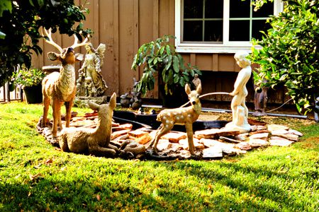 Yard Statues Decorate A Front Lawn Bill Boch Getty Images