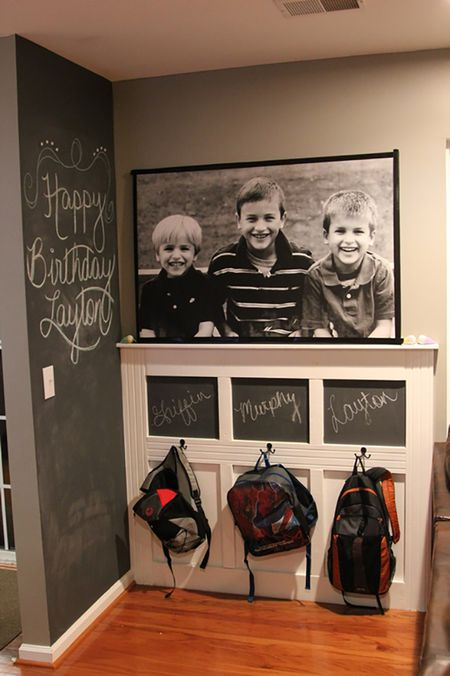 Hang A Set Of Low Hooks For Kids Mudroom Storage