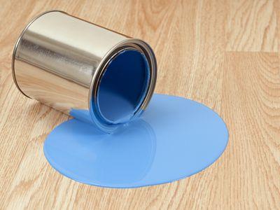 Paint spill on wood floor