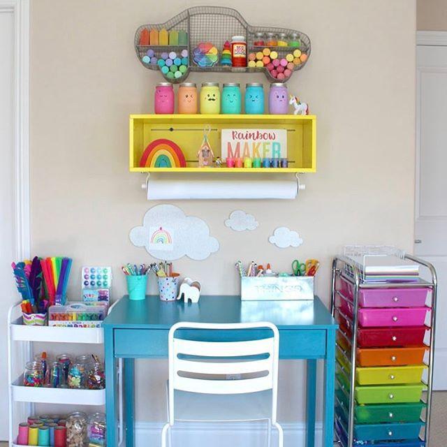 Colorful art corner for kids