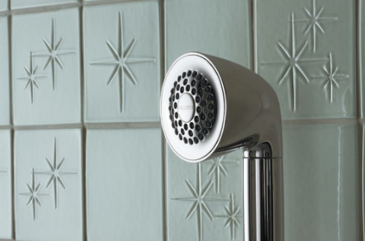 Retro Starburst Tiled Shower