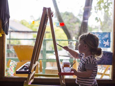 child-painting