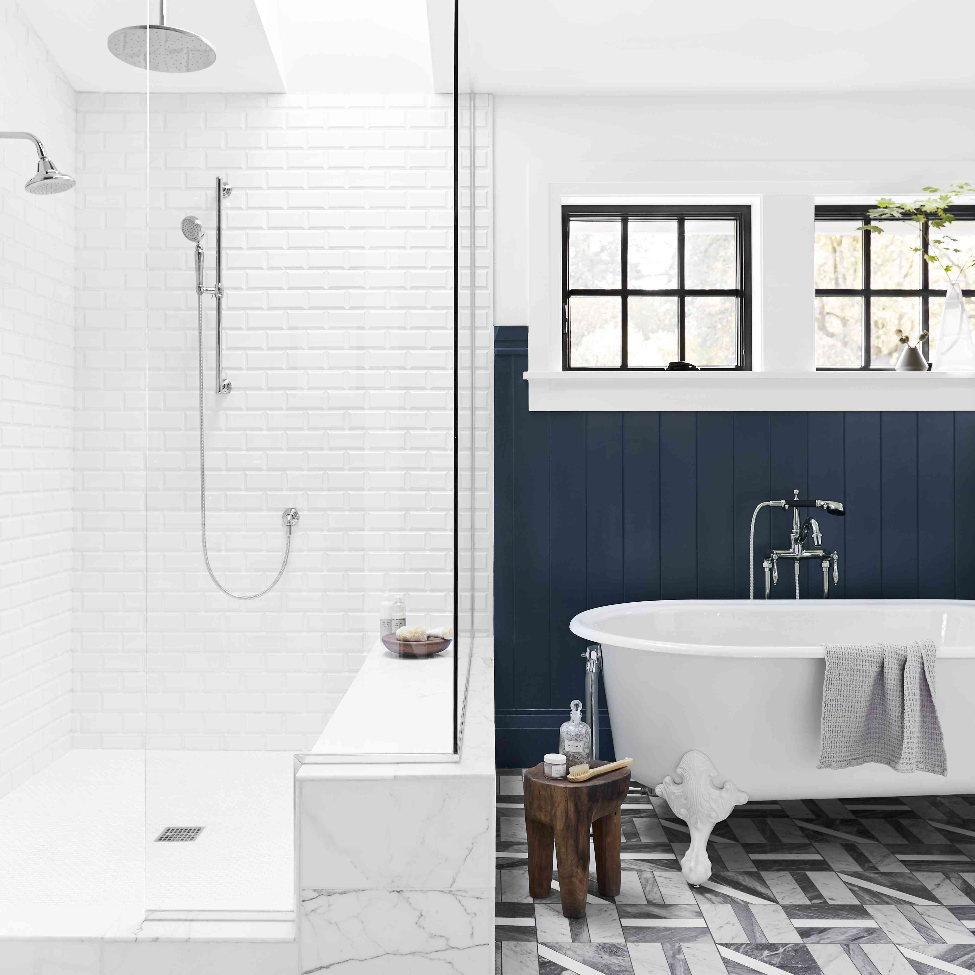 bathroom with contrast