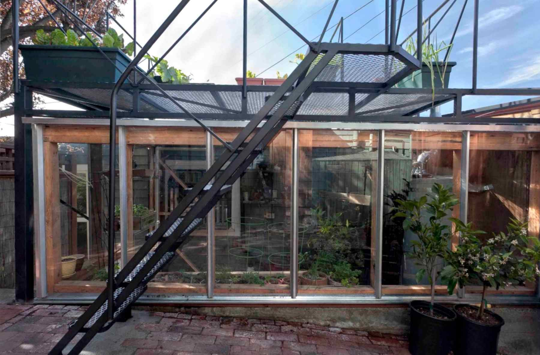 All glass shed