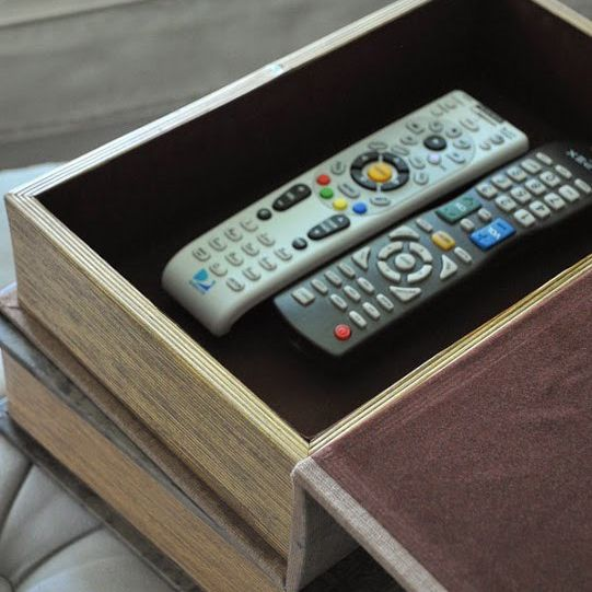 remotes in a hollow book