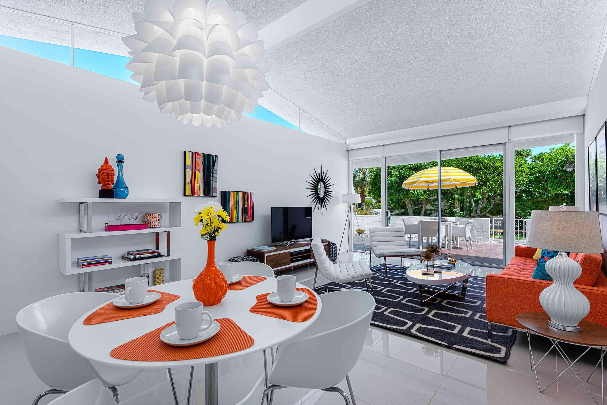 Sala de estar moderna de Palm Springs