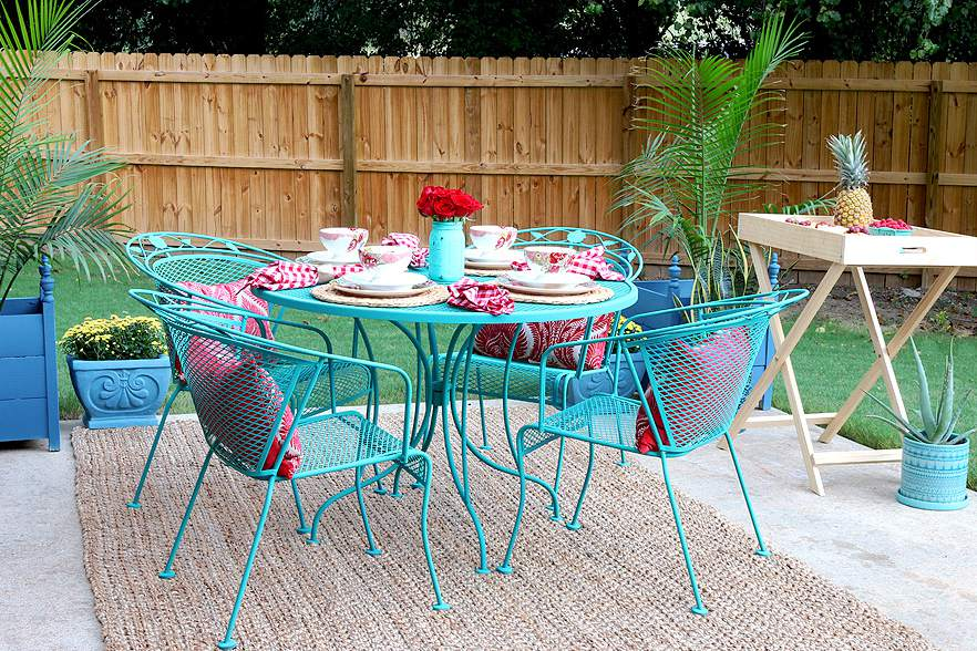 paint your patio furniture