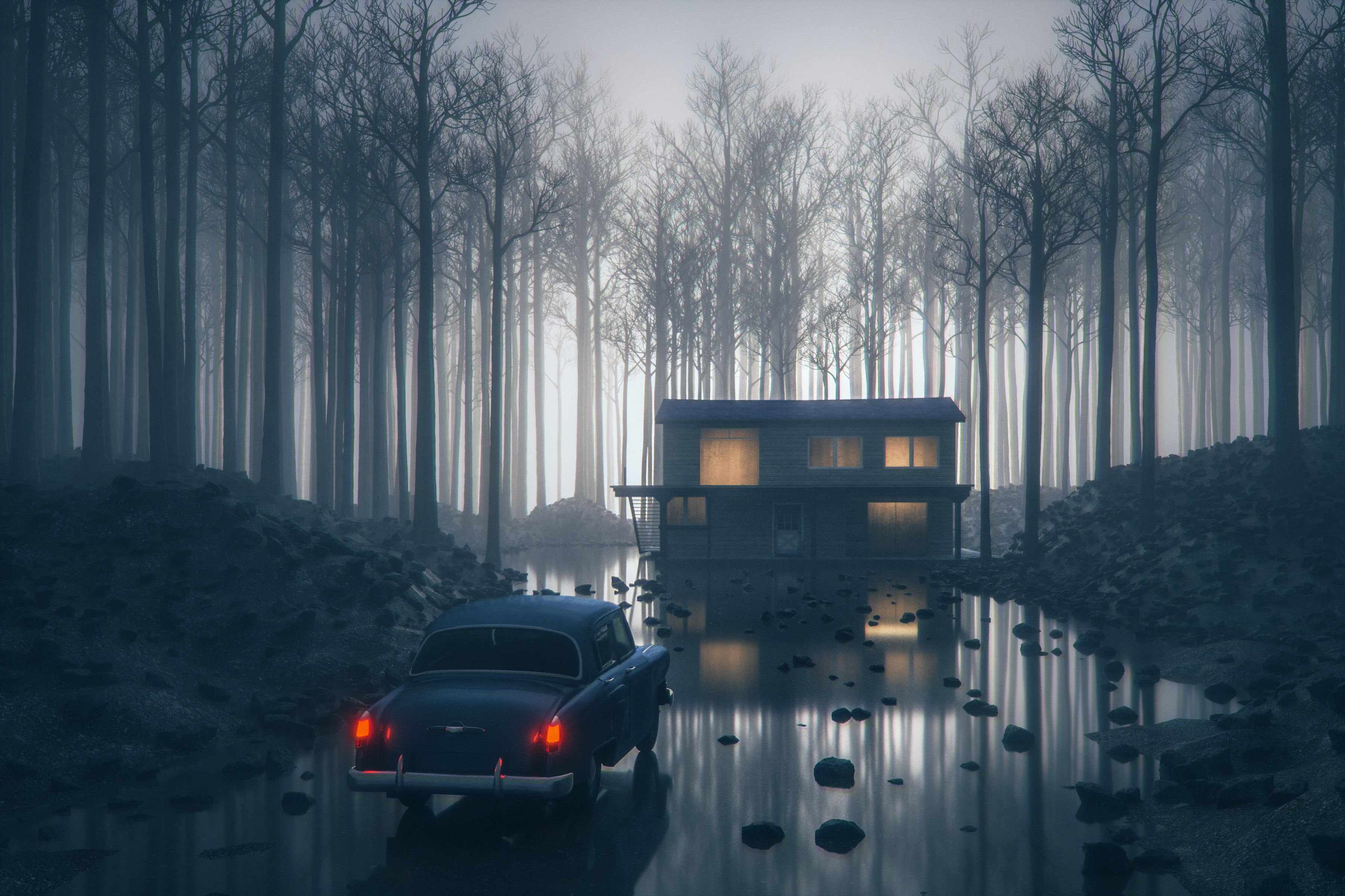 mysterious remote home