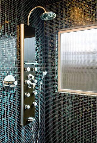 mosaico de vidrio de ducha