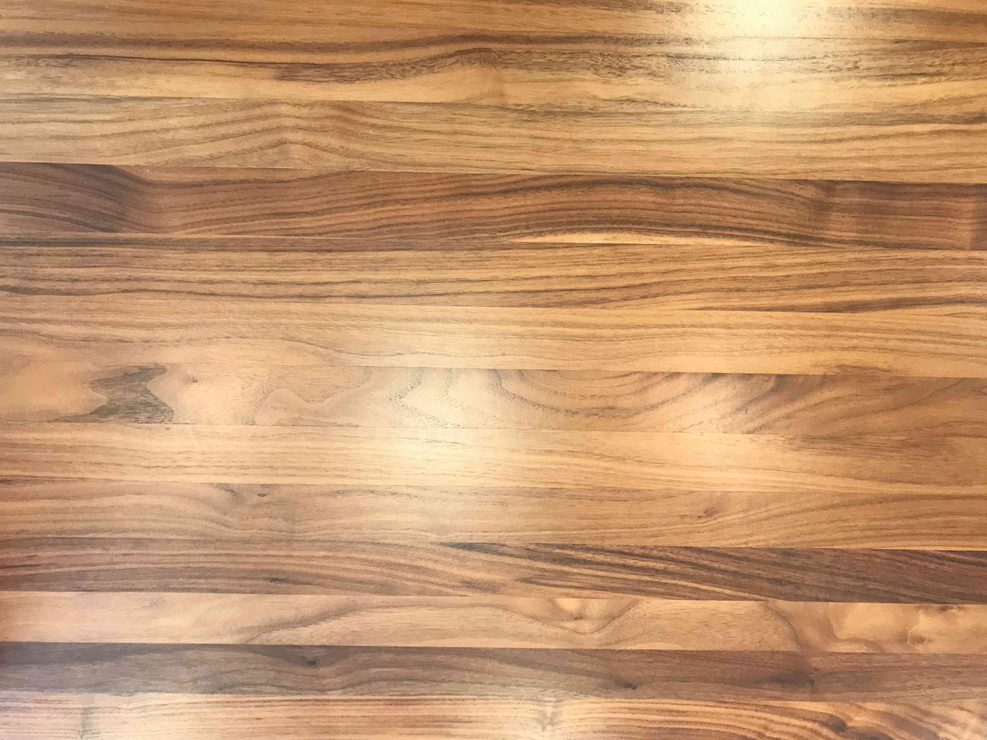 Butcher Block Countertop Stained and Sealed