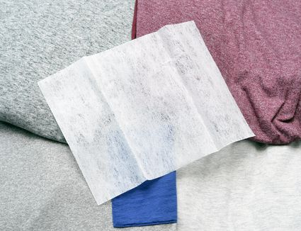 Dryer sheet on clothes