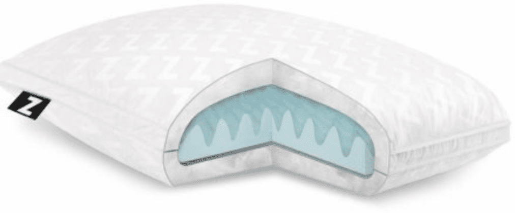 Z Convolution Gel-Infused Dough Memory Foam Core with Gelled Microfiber Fill Pillow