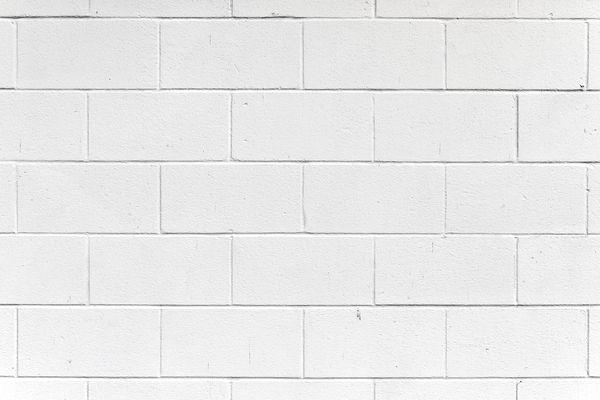 Painted cinder block wall