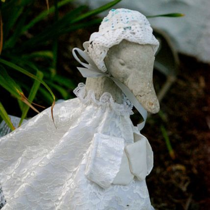 Concrete Goose with Outfit