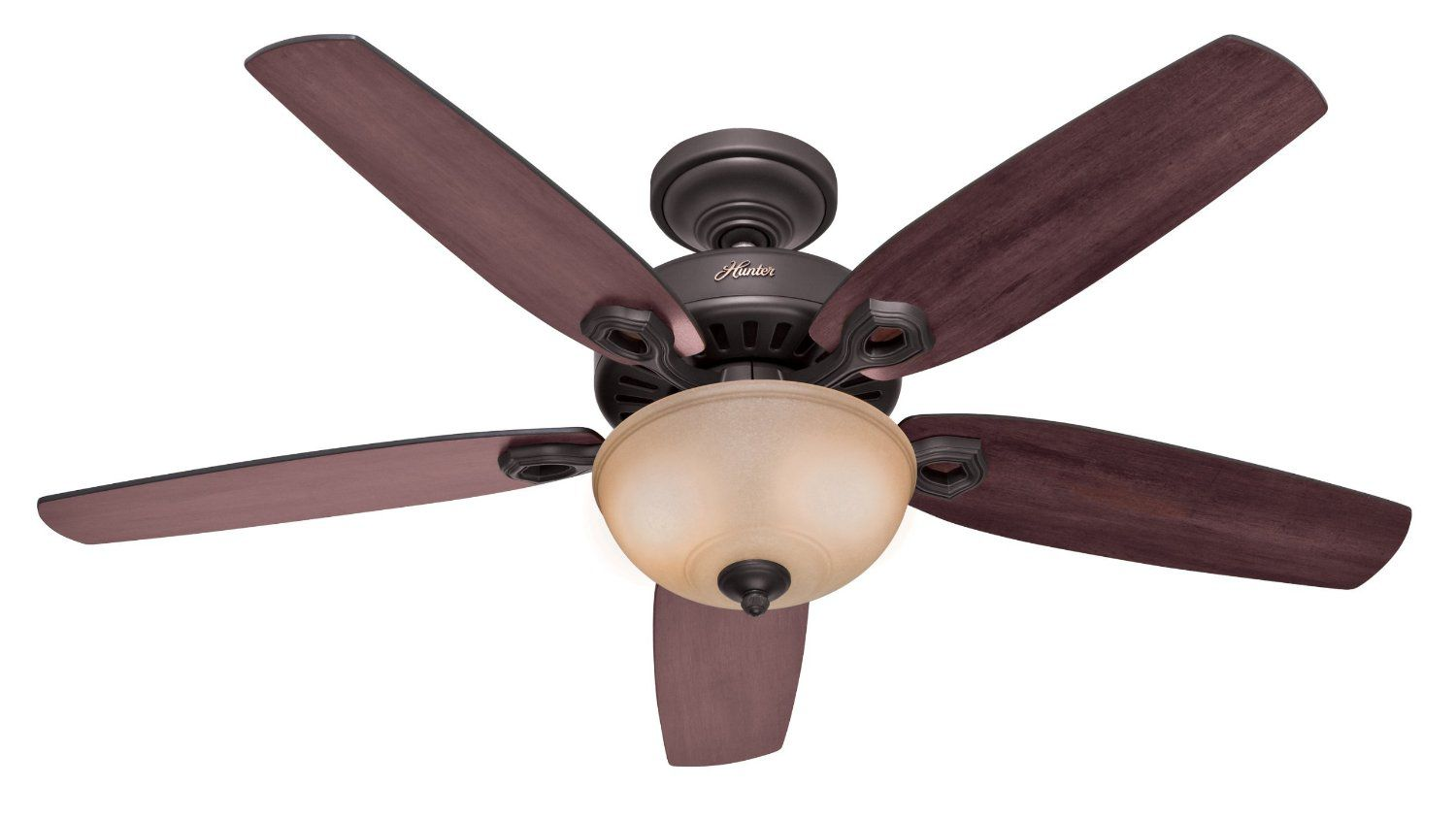 Hunter 53091 Builder Deluxe 5-Blade Single Light Ceiling Fan