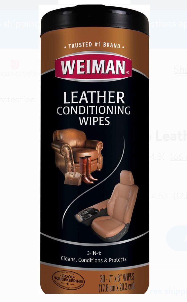 Weiman Leather Cleaner Wipes