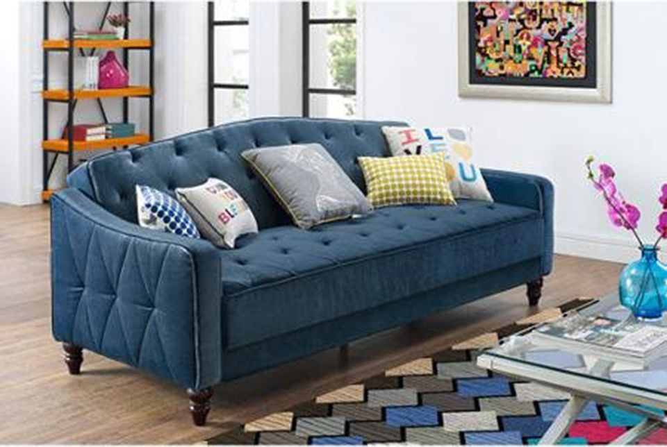 9 By Novogratz Vintage Tufted Sofa Sleeper