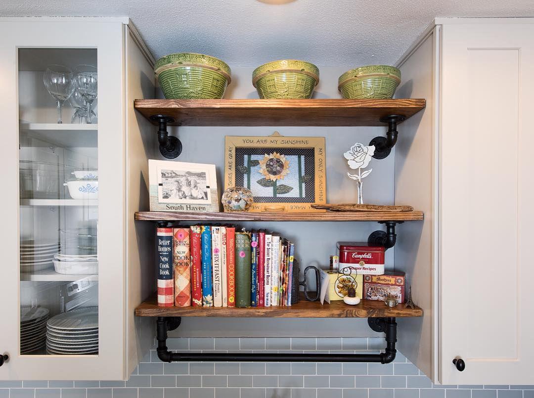Shelf with cookbooks