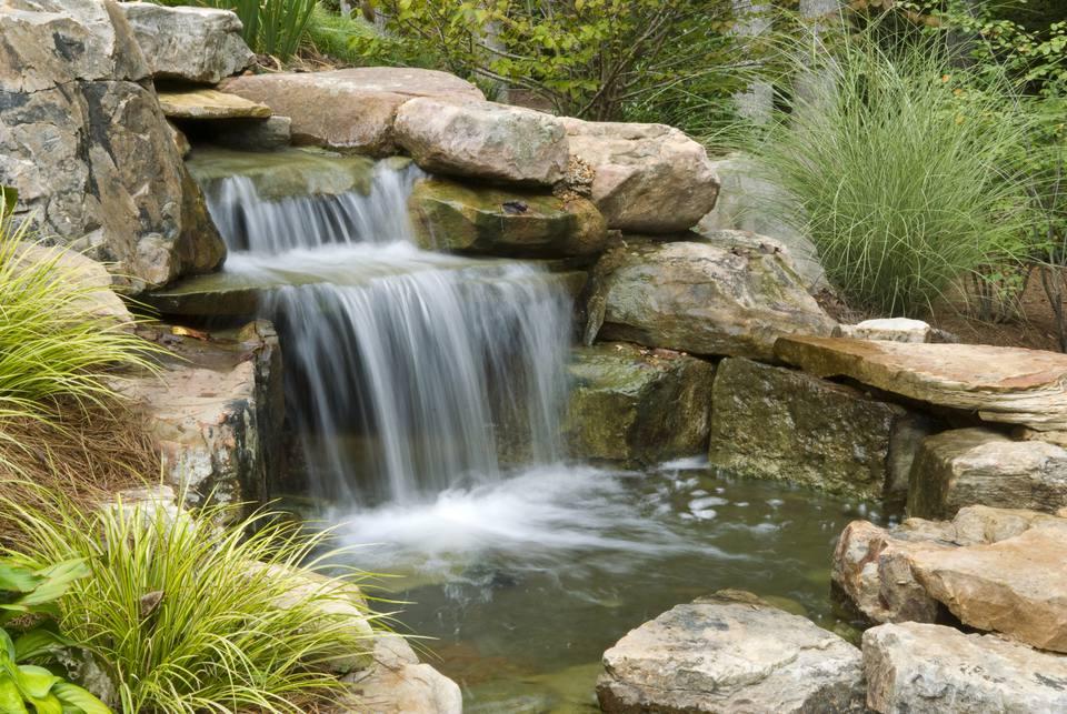 Backyard waterfall