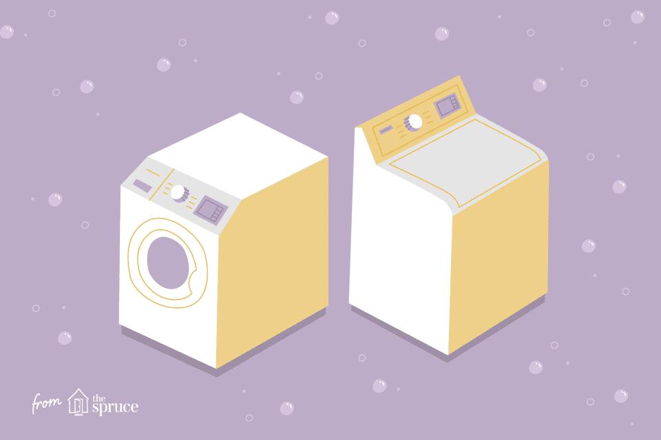 Top load vs side load washing machine