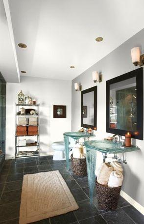 galería de baño blanco