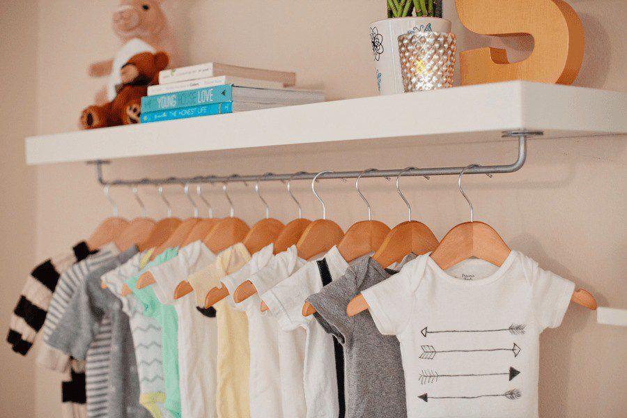 IKEA shelf hack for nursery