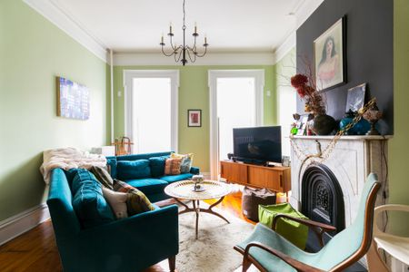 Green And Teal Living Room