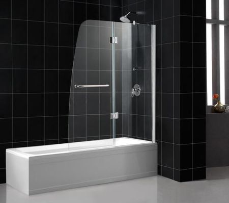 ae91c47f6095 Dreamline AQUA Frameless Hinged Shower Tub Door