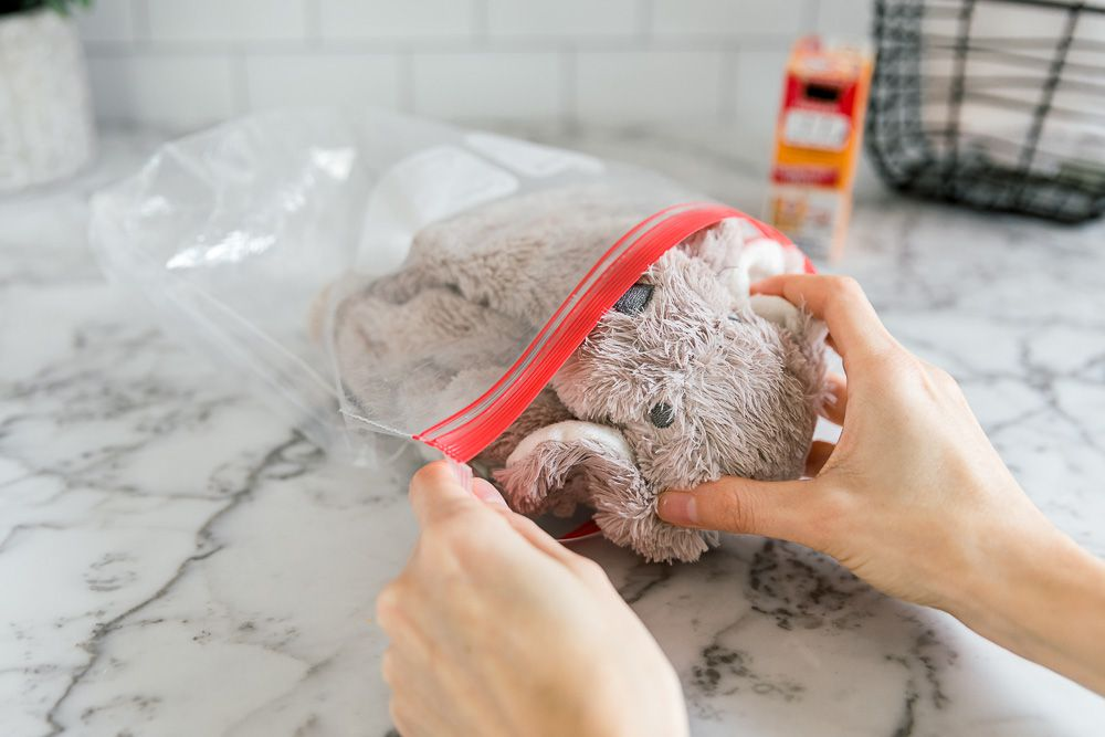 dry cleaning a stuffed animal