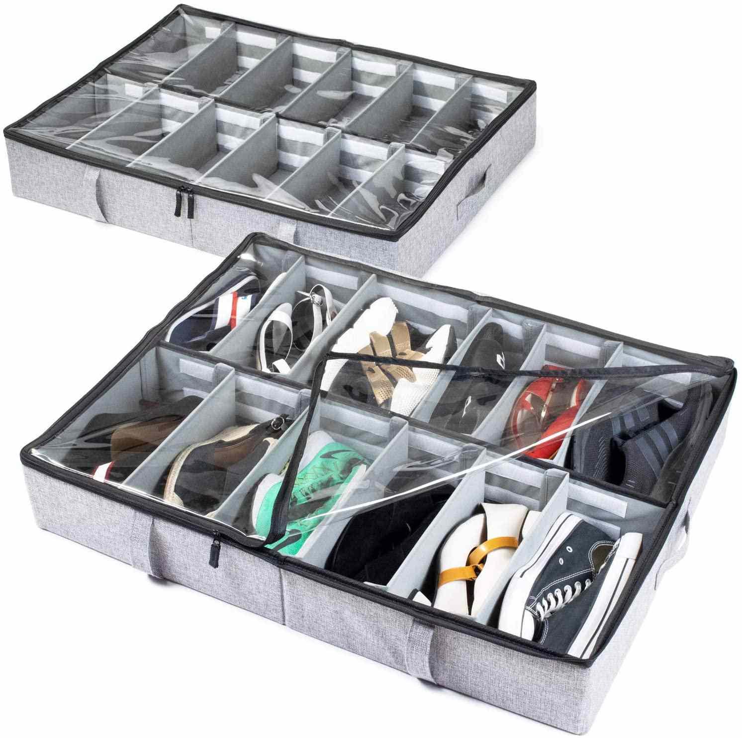 StorageLab Under Bed Shoe Storage Organizer