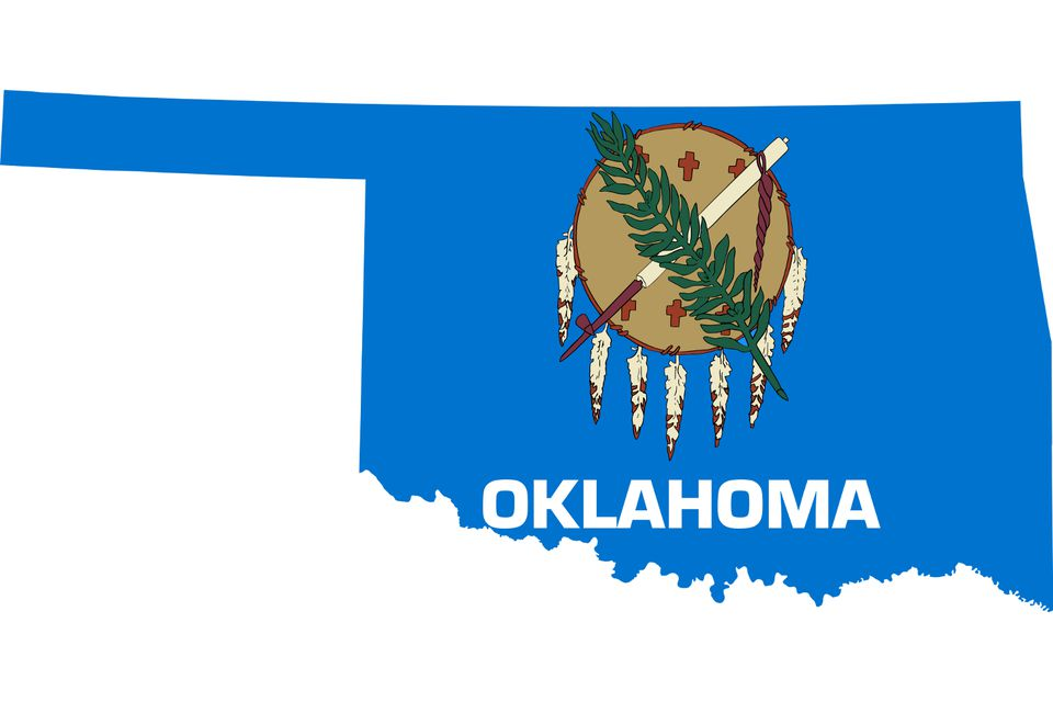 Oklahoma with Flag Image