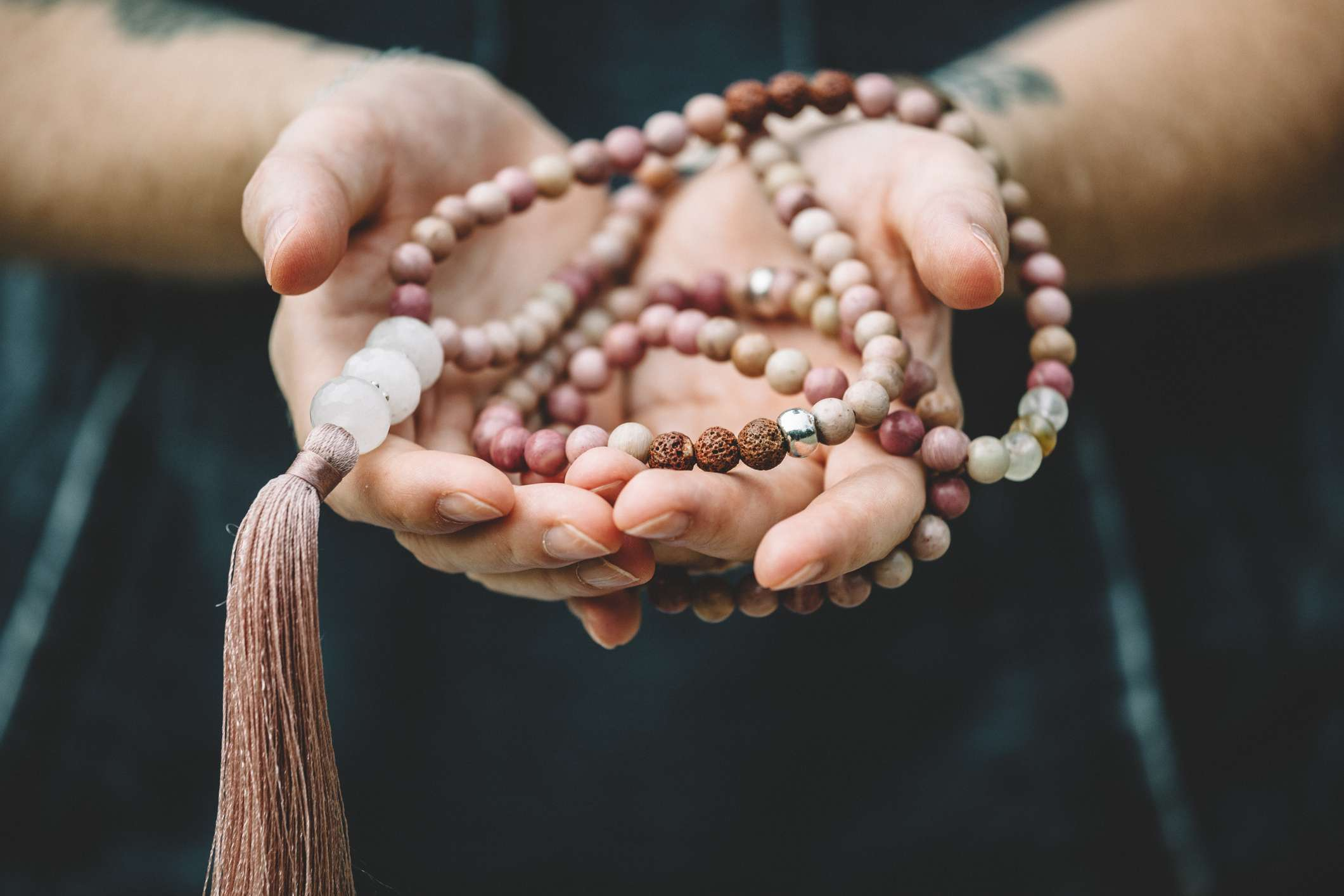 Prayer or Mala beads to chant for space clearing