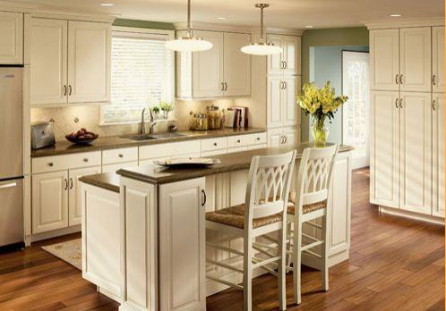 gabinetes de cocina blancos con termopelícula