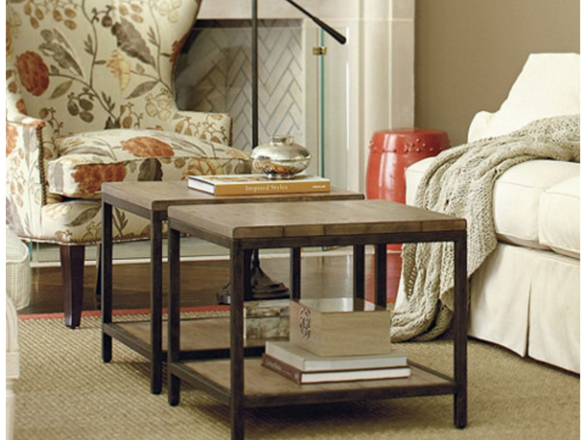 High-footed Chair Side Narrow End Table Hidden Storage Small Spaces Coffee Home
