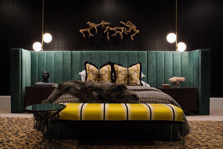 Art Deco-inspired bedroom