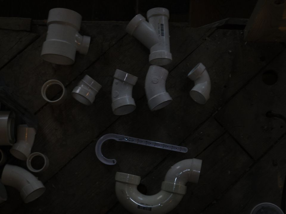 An assortment of PVC fittings