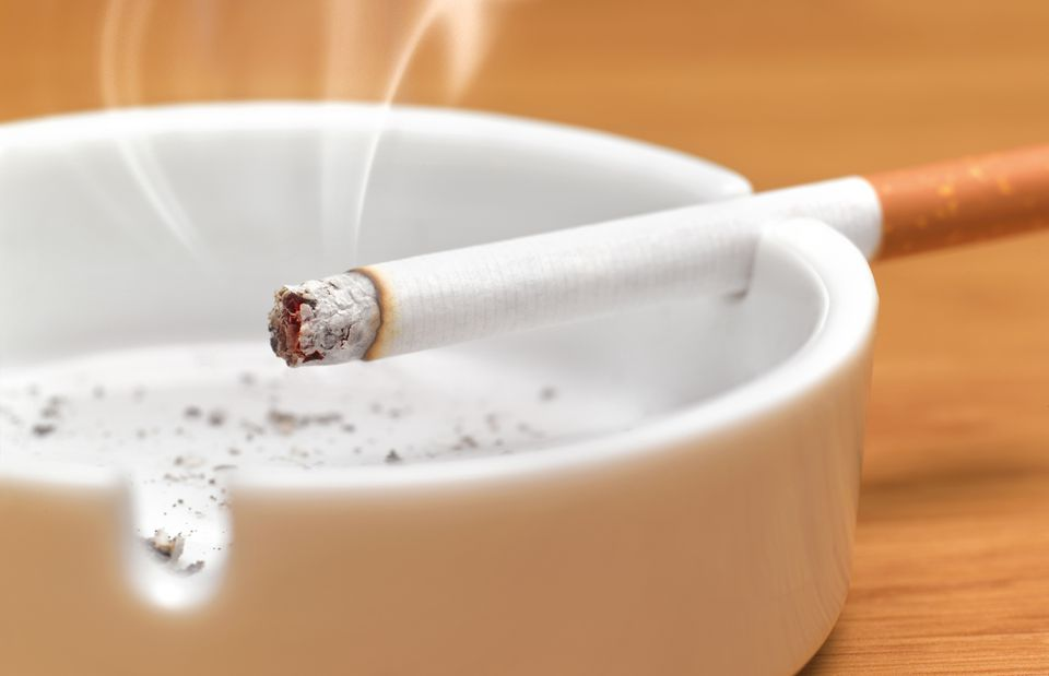 cigarette in an ash tray