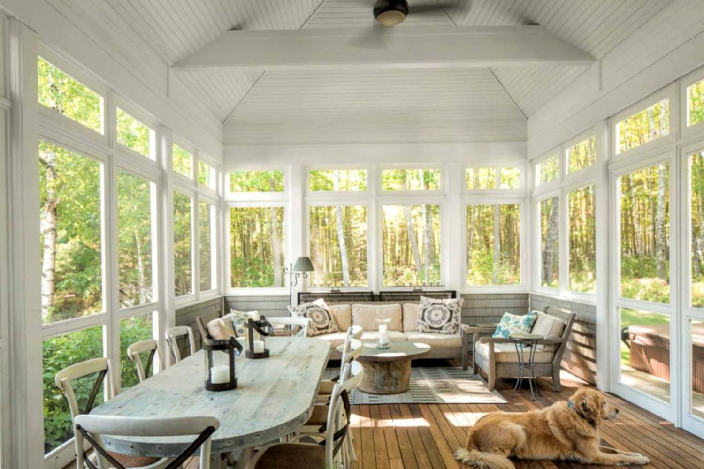 acristalado en el porche