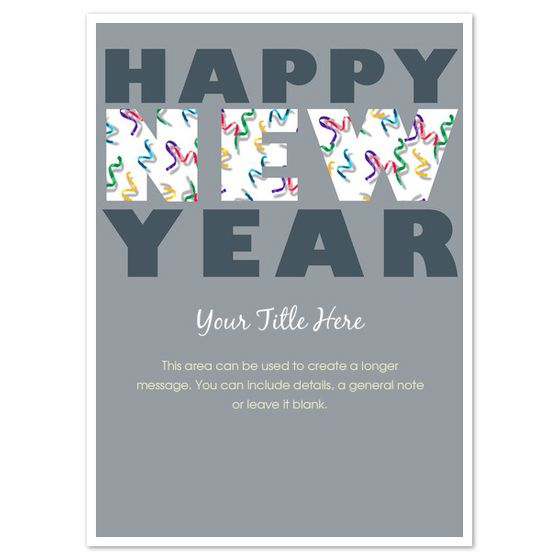 a gray happy new year ecard