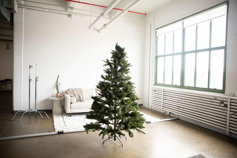 Puleo International 7-Foot Un-Lit Fraser Fir Artificial Christmas Tree