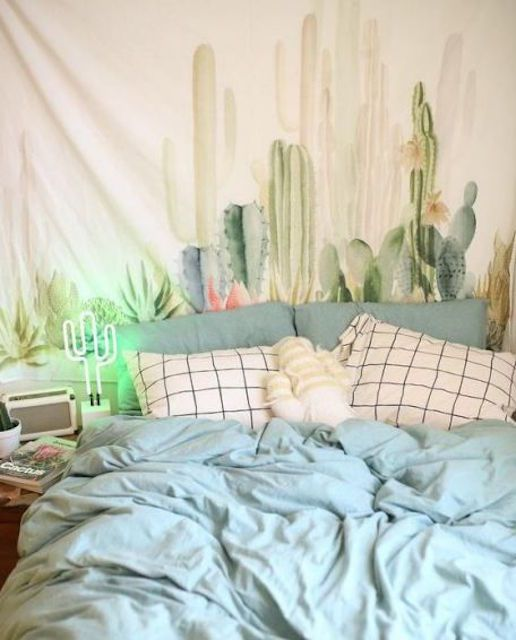 Decoración de dormitorio de tapicería de bricolaje